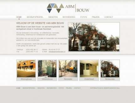 Abm Bouw Website