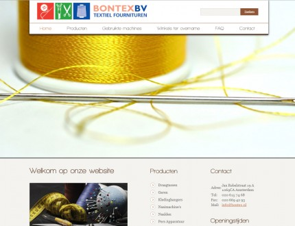 Bontex B.v Website