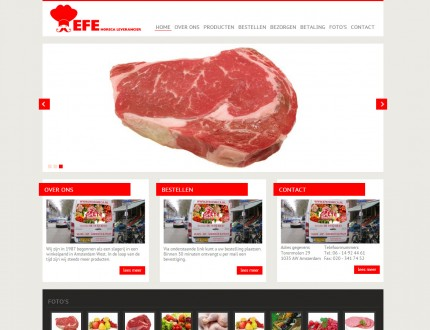 Efe Horeca Leverancier Website