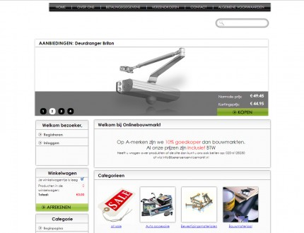 Onlinebouwmarkt webwinkel