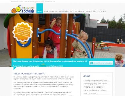 Kinderdagverblijf 't Schelpje Website