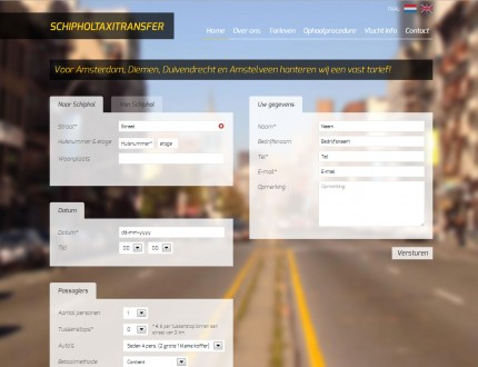 Schiphol Taxi Transfer Website