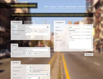 Schiphol Taxi Transfer Website