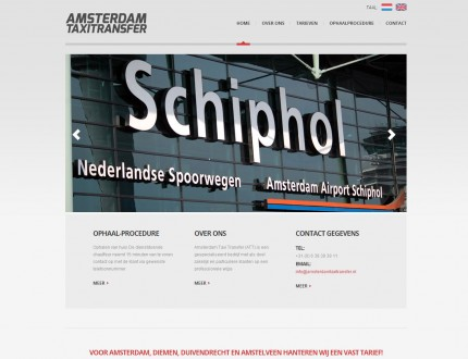 Amsterdam Taxi Transfer website