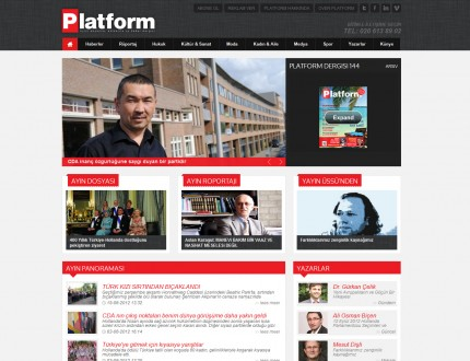 Platform dergisi website