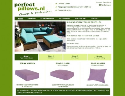 Perfectpillows website